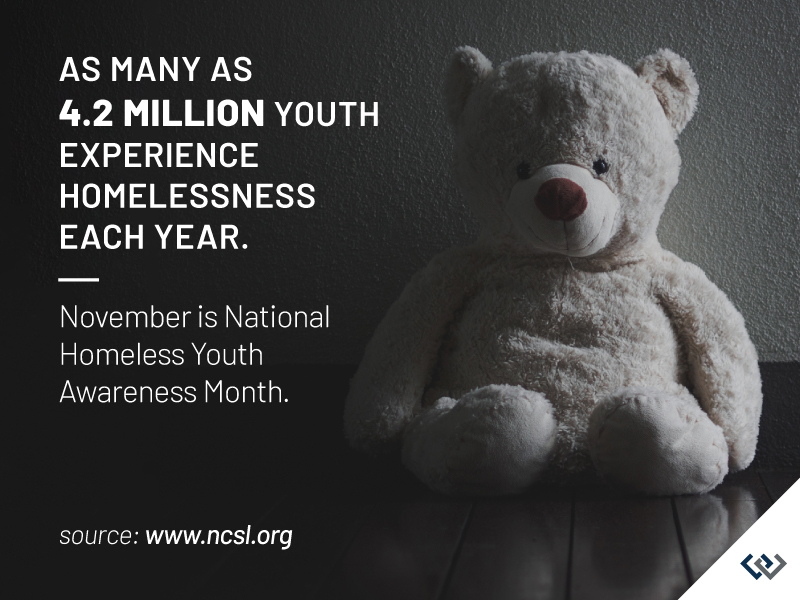 A Windermere Foundation graphic for National Homeless Youth Awareness Month.