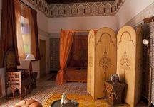 A wonderfully worked arabian bedroom.